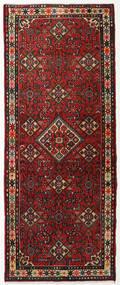 Hamadan Matta 80X200 Äkta Orientalisk Handknuten Hallmatta Mörkröd/Mörkbrun (Ull, Persien/Iran)
