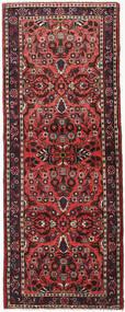 Hamadan Matta 84X218 Äkta Orientalisk Handknuten Hallmatta Mörkröd/Svart (Ull, Persien/Iran)