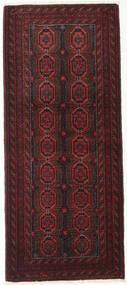 Beluch Tæppe 79X189 Ægte Orientalsk Håndknyttet Tæppeløber Mørkerød/Mørkebrun (Uld, Persien/Iran)