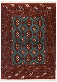 Turkaman Koberec 110X148 Orientální Ručně Tkaný Tmavě Červená/Tyrkysově Modré (Vlna, Persie/Írán)