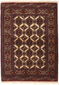 Turkaman Rug 118X161 Authentic  Oriental Handknotted Dark Red/Dark Brown (Wool, Persia/Iran)