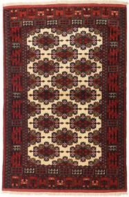 Turkaman Rug 110X162 Authentic  Oriental Handknotted Dark Red/Dark Brown (Wool, Persia/Iran)