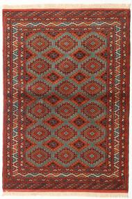 Turkaman Koberec 105X150 Orientální Ručně Tkaný Tmavě Červená/Červenožlutá (Vlna, Persie/Írán)