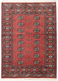 Pakistan Buchara 2Ply Teppich 134X185 Echter Orientalischer Handgeknüpfter Dunkelrot/Dunkelbraun (Wolle, Pakistan)
