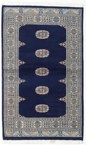 Pakistan Bokhara 2Ply Tæppe 94X154 Ægte Orientalsk Håndknyttet Mørkeblå/Lysegrå/Mørkegrå (Uld, Pakistan)
