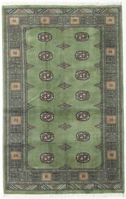 Pakistan Bokhara 2Ply Teppe 123X193 Ekte Orientalsk Håndknyttet Olivengrønn/Mørk Grå/Lys Grå (Ull, Pakistan)