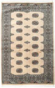 Pakistański Bucharski 2Ply Dywan 123X188 Orientalny Tkany Ręcznie Beżowy/Ciemnoszary (Wełna, Pakistan)