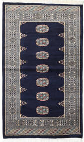 Pakistan Bokhara 2Ply Rug 93X157 Authentic  Oriental Handknotted Black/Light Grey (Wool, Pakistan)