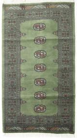 Pakistan Buchara 2Ply Teppich 91X163 Echter Orientalischer Handgeknüpfter Dunkelgrau/Dunkelgrün (Wolle, Pakistan)