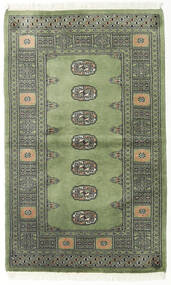 Pakistański Bucharski 2Ply Dywan 93X153 Orientalny Tkany Ręcznie Zielony/Oliwkowy/Ciemnozielony (Wełna, Pakistan)