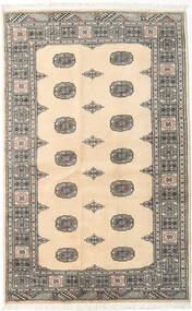 Pakistan Bokhara 2Ply Matta 125X197 Äkta Orientalisk Handknuten Beige/Ljusgrå (Ull, Pakistan)