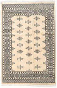 Pakistański Bucharski 2Ply Dywan 123X184 Orientalny Tkany Ręcznie Beżowy/Jasnoszary (Wełna, Pakistan)