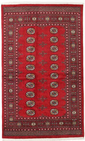 Pakistan Bokhara 2Ply Rug 133X210 Authentic  Oriental Handknotted Dark Red/Crimson Red (Wool, Pakistan)