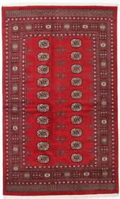 Pakistan Bokhara 2Ply Teppe 133X210 Ekte Orientalsk Håndknyttet Mørk Rød/Rød (Ull, Pakistan)