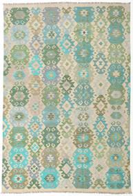 Kilim Afghan Old Style Rug 198X291 Authentic  Oriental Handwoven (Wool, Afghanistan)