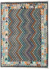 Kilim Afghan Old Style Rug 212X288 Authentic  Oriental Handwoven Dark Grey/Light Grey (Wool, Afghanistan)