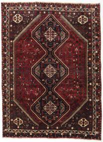 Shiraz Rug 187X257 Authentic  Oriental Handknotted Dark Red/Dark Brown (Wool, Persia/Iran)