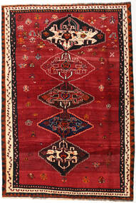 Shiraz Rug 162X239 Authentic  Oriental Handknotted Dark Red/Crimson Red (Wool, Persia/Iran)