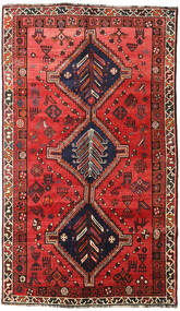 Shiraz Rug 147X250 Authentic  Oriental Handknotted Dark Red/Rust Red (Wool, Persia/Iran)