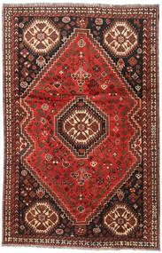 Shiraz Matto 164X248 Itämainen Käsinsolmittu Tummanpunainen/Tummanruskea (Villa, Persia/Iran)