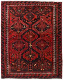 Lori Tæppe 167X215 Ægte Orientalsk Håndknyttet Sort/Mørkerød/Rust (Uld, Persien/Iran)