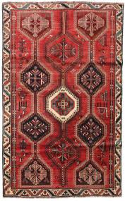 Shiraz Tapis 159X257 D'orient Fait Main Marron Foncé/Rouge Foncé/Rouille/Rouge (Laine, Perse/Iran)