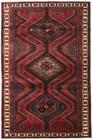 Lori Rug 161X248 Authentic  Oriental Handknotted Dark Red/Black (Wool, Persia/Iran)
