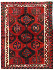 Lori Rug 164X214 Authentic  Oriental Handknotted Dark Red/Black (Wool, Persia/Iran)
