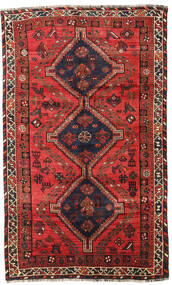 Shiraz Rug 153X251 Authentic Oriental Handknotted Dark Brown/Dark Red (Wool, Persia/Iran)