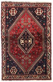 Shiraz Vloerkleed 104X164 Echt Oosters Handgeknoopt Donkerrood/Donkerbruin (Wol, Perzië/Iran)