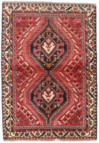 Shiraz Matto 111X160 Itämainen Käsinsolmittu Tummanruskea/Ruoste (Villa, Persia/Iran)