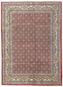 Moud Vloerkleed 168X233 Echt Oosters Handgeknoopt Lichtgrijs/Donkerrood (Wol/Zijde, Perzië/Iran)