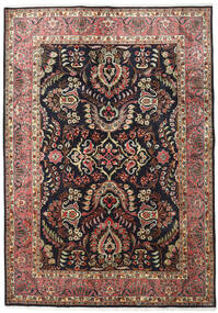 Moud Rug 171X243 Authentic  Oriental Handknotted Black/Light Brown (Wool/Silk, Persia/Iran)