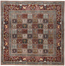 Moud Rug 195X198 Authentic  Oriental Handknotted Square (Wool/Silk, Persia/Iran)