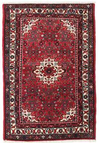Hamadan Teppich  104X155 Echter Orientalischer Handgeknüpfter Dunkelrot/Schwartz (Wolle, Persien/Iran)