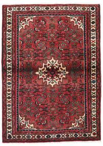 Hamadan Teppich  100X150 Echter Orientalischer Handgeknüpfter Dunkelrot/Schwartz (Wolle, Persien/Iran)