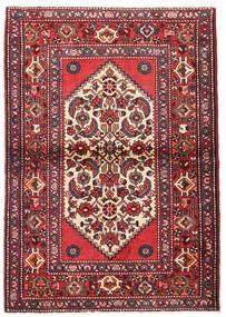 Hamadan Dywan 107X155 Orientalny Tkany Ręcznie Ciemnobrązowy/Rdzawy/Czerwony (Wełna, Persja/Iran)