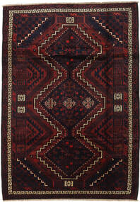 Lori Rug 195X275 Authentic  Oriental Handknotted Dark Red (Wool, Persia/Iran)