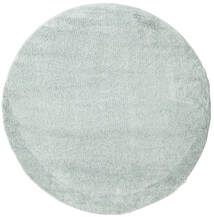 Shaggy Cosy Everyday - Mint Dywan Ø 200 Nowoczesny Okrągły Jasnoszary/Biały/Creme ( Turcja)