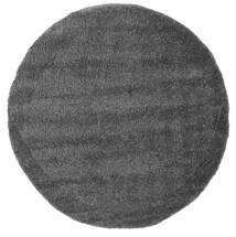 Shaggy Cosy Everyday - Dark Grey Rug Ø 200 Modern Round Dark Grey/Dark Brown ( Turkey)