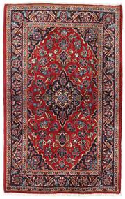 Keshan Tappeto 95X147 Orientale Fatto A Mano Rosso Scuro/Beige (Lana, Persia/Iran)