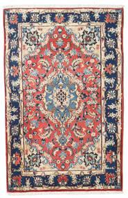 Kashmar Matto 88X138 Itämainen Käsinsolmittu Beige/Tummanvioletti (Villa, Persia/Iran)