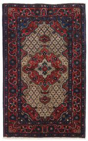 Koliai Tappeto 100X161 Orientale Fatto A Mano Porpora Scuro/Rosso Scuro (Lana, Persia/Iran)
