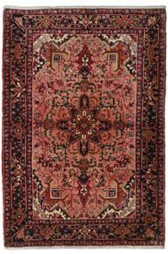 Heriz Koberec 117X170 Orientální Ručně Tkaný Tmavě Červená/Tmavě Hnědá (Vlna, Persie/Írán)
