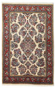 Sarough Koberec 103X163 Orientální Ručně Tkaný Černá/Tmavě Červená (Vlna, Persie/Írán)