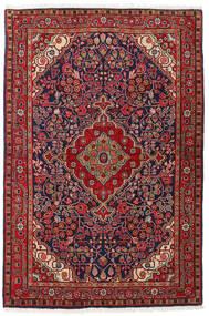 Jozan Szőnyeg 104X160 Keleti Csomózású Sötétpiros/Sötétlila (Gyapjú, Perzsia/Irán)