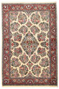 Sarough Koberec 106X160 Orientální Ručně Tkaný Tmavošedý/Tmavá Béžová (Vlna, Persie/Írán)