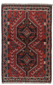 Shiraz Rug 82X125 Authentic Oriental Handknotted Dark Red/Black (Wool, Persia/Iran)