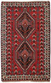 Shiraz Koberec 78X123 Orientální Ručně Tkaný Tmavě Červená/Tmavě Hnědá (Vlna, Persie/Írán)