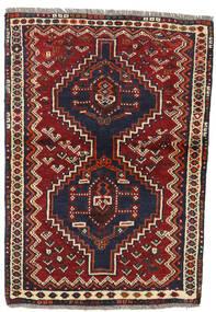 Shiraz Covor 84X120 Orientale Lucrat Manual Roșu-Închis/Gri Închis (Lână, Persia/Iran)